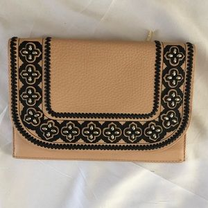 Kate Spade Leather Embroidered Clutch - Like New